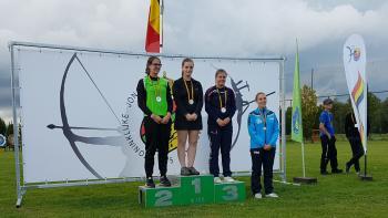 Daniella Stegner: Belgisch Kampioene 2017 Lange Afstand Recurve Dames Junior
