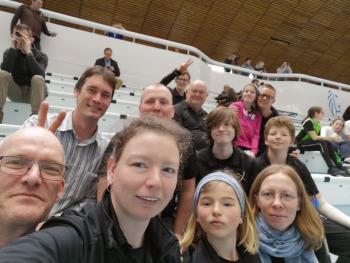 Selfie van het team